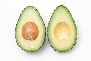 Close up of split Avocado